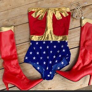 Wonder Women Costume Boots Sz 9
